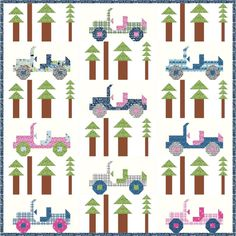 Stitch an underwater forest into your next quilt with cool blue-green shades.