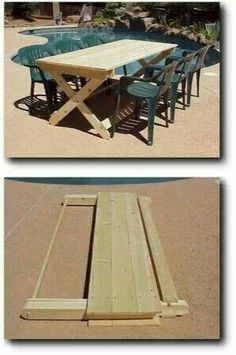 Neat folding picnic table                                                                                                                                                                                 More
