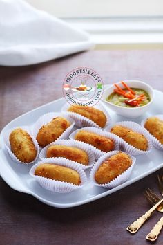 Potato Croquette (Kroket Kentang).  The snack that was first introduced to Indonesia during Dutch colonial rule.