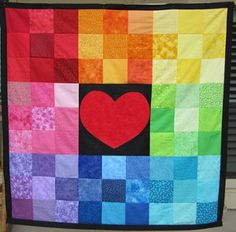 All You Need Is Love Rainbow Quilt | FaveQuilts.com