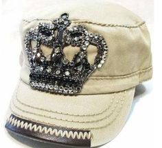 f14da9b70f0 Cadet Hat - Crystal Crown  Khaki