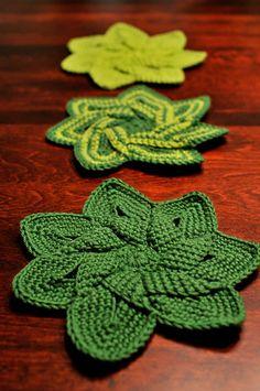 Ravelry: jmjbean's Green Flower Set