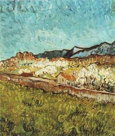 Vincent van Gogh - At the Foot of the Mountains, June 1889, Saint-Rémy-de-Province, France, oil on canvas, Van Gogh Museum, Amsterdam.