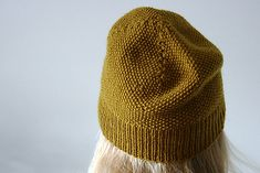 Simple Moss Stitch Hat for when you want something simple. Free pattern.