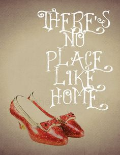 Items similar to There's No Place Like Home - Dorothy Wizard of Oz Movie Poster - Art Print - Quotation on Etsy Wizard Of Oz Quotes, Wizard Of Oz Movie, Dorothy Wizard Of Oz, Wizard Of Oz 1939, Movie Poster Art, Quote Posters, Painted Suitcase, Land Of Oz, Yellow Brick Road