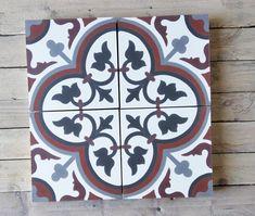 Klassisches florales Muster Jugendstil Design, Cement Tiles, Bespoke, White Tiles, Custom Cars, Colors, Taylormade