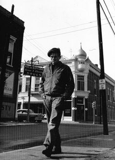 Jame Dean In His Hometown Fairmount Indiana by Dennis Stock.