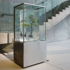 Tokujin Yoshioka, the director of the exhibition, has attempted to incorporate in his own design work the many laws that exist in nature, while at the same time exploring the possibilities of technology. Above and below: Makoto Azuma.