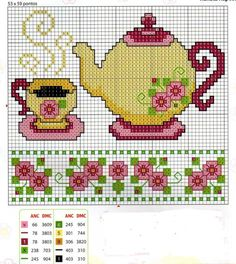 cross stitch chart--- border at the bottom for dollhouse walls or floors Cross Stitch Charts, Cross Stitch Designs, Cross Stitch Patterns, Cross Stitching, Cross Stitch Embroidery, Hand Embroidery, Beading Patterns, Embroidery Patterns, Cross Stitch Kitchen
