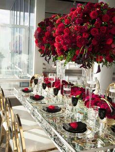 Featured Photographer: Studio A Images; Wedding reception centerpiece idea.