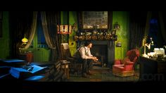 """Another pic of the """"green room"""" from Nanny McPhee ....I want to paint a room green, because it's SO calming and soothing! <3"""