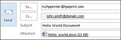 Image: Example of sending an HP ePrint job.
