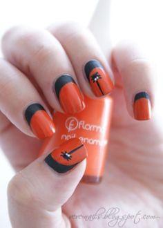 Fotos de uñas color naranja – 50 ejemplos   Orange Nails
