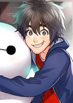 Hiro and Baymax - big-hero-6 Fan Art