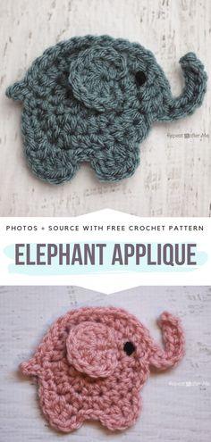 Elephant ApliqueFree Crochet Pattern