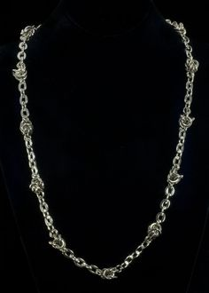 """Rhodium Knotted Chain Necklace  Rhodium plated knotted chain necklace. Necklace is 25"""""""" with a 3"""""""" extender chain and lobster claw clasp.   http://www.sterlingjewelrystores.com/product651.html"""