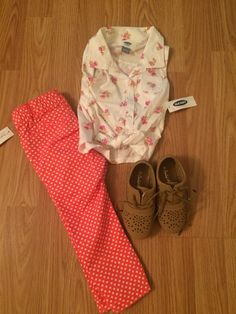 Floral and polka dots #monday #ootd