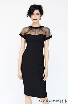 Maggy London Illusion Yoke Crepe Sheath Dress in Black, Red or Navy black dress Outfit Trends, Outfit Ideas, Pencil Dress, Mode Inspiration, Mode Style, Look Fashion, Dress Fashion, Fashion Black, Fashion Styles