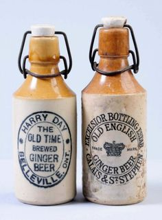 Lot Of 2 Stoneware Ginger Beer Bottles Lot 191 All