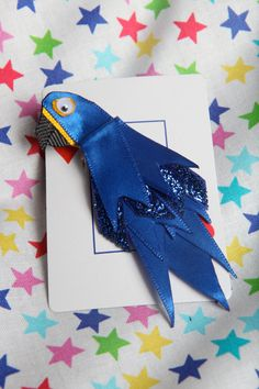Henry the Hyacinth Macaw Parrot Ribbon Sculpture by lemonsnicker, $7.50