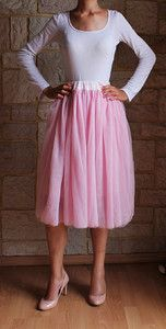 Spódnica tiulowa pudrowy RÓŻ różowa MIDI spódniczka baletnicy baleriny baletowa spódnica tiulowa na weselę, tulle skirt ballerine skirt, tulle skirt buy online wedding, outfit pinterest asos pink