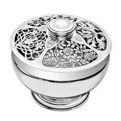 Betteridge Collection Silver Flower Centerpiece Bowl
