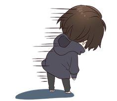 It is a cute sticker of Menhera-kun. Chibi Boy, Cute Anime Chibi, Manga Cute, Cute Anime Guys, Kawaii Chibi, Anime Oc, Anime Angel, Anime Neko, Otaku Anime
