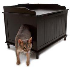 Shop Designer Catbox Hidden Litter Box Enclosure Furniture - Overstock - 7638119 Cat Litter Box Enclosure, Espresso, Litter Pan, Cat Toilet, Pet Furniture, Furniture Market, Refurbished Furniture, House Furniture, Painted Furniture