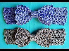FAIXA LAÇO - VENHA CONFERIR O PASSO A PASSO! SIMPLES, FÁCIL DE FAZER E MUITO LINDA!!! - YouTube Crochet Hair Bows, Crochet Belt, Crochet Hair Accessories, Crochet Headband Pattern, Cute Crochet, Crochet Motif, Crochet Hair Styles, Crochet Toddler, Baby Girl Crochet