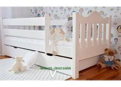 Łóżka dla dzieci: chłopców i dziewczynek - białe, drewniane z barierką oraz podwójne (7) - Sklep Bedlayn