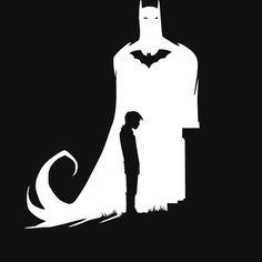 The dark knight art print by wizart #thedarkknight #batman #art