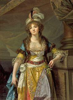 Jean-Baptiste Greuze (French artist, 1725-1805), Portrait of Mademoiselle Guimard, 1790