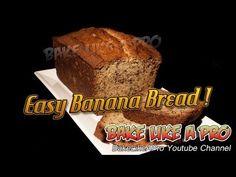 ▶ Easy Banana Bread Recipe - Super Moist ! - YouTube