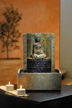 Schieferbrunnen Ning Buddha Brunnen Tischbrunnen Und Zimmerbrunnen