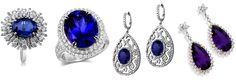 Tanzanite and Diamond jewelry – mystical yet elegant