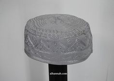Men's Solid Kufi with Embroidery