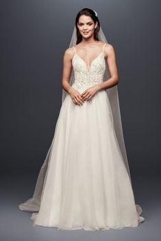 Organza Wedding Dresses Sheer Beaded Bodice Organza A-Line Wedding Dress December Wedding Dresses, Best Wedding Dresses, Wedding Gowns, Wedding Tips, Dream Wedding, Wedding Planning, Glamorous Wedding, Wedding Fun, Wedding Stuff