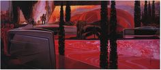 "Syd Mead Futurism ""Red"" (Hethatis Madoz, 2011)"