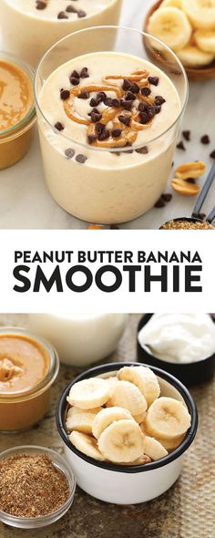 Peanut butter and banana is a fan favorite when it comes to flavor combos. That's why this peanut butter banana smoothie is a show-stopping smoothie recipe you need to make! We kept this peanut butter and banana smoothie recipe simple… Continue Reading → Fruit Smoothies, Best Breakfast Smoothies, Easy Smoothies, Detox Breakfast, Vegan Breakfast, Fruit Snacks, Fruit Drinks, Fruit Juice, Ingredients For Smoothies