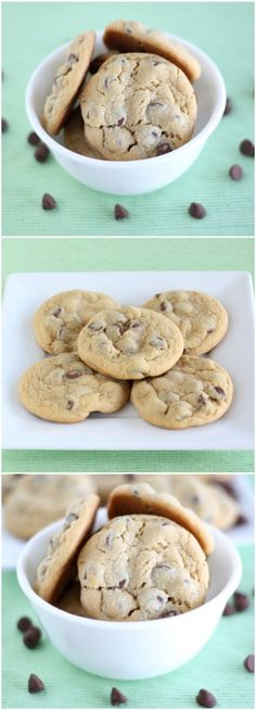 Vanilla Pudding Chocolate Chip Cookie Recipe on twopeasandtheirpo… The BEST soft chocolate chip cookies! Everyone LOVES these cookies! Keto Pudding, Avocado Pudding, Chia Pudding, Cheesecake Pudding, Pudding Recipes, Protien Pudding, Pudding Corn, Pudding Ideas, Biscuit Pudding