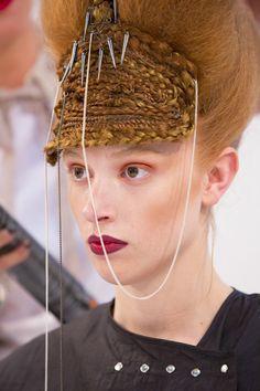 Sewn-up braids at Salon International