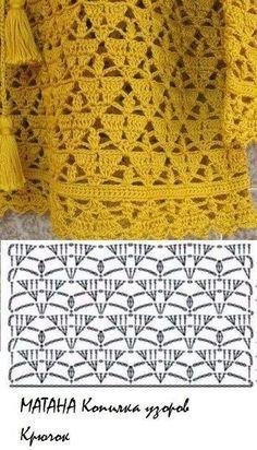 Débardeurs Au Crochet, Gilet Crochet, Crochet Chart, Crochet Diagram, Love Crochet, Patron Crochet, Crotchet Stitches, Crochet Stitches Patterns, Vintage Crochet Patterns