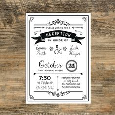 Wedding Reception Invitation Templates                                                                                                                                                      More