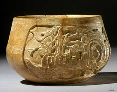carved Maya vase K3115 with the Maize god emerging from the mouth of the Serpent of Xibalba (Och Chan)