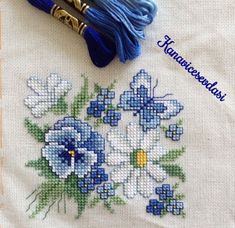 This Pin was discovered by Neş Cross Stitch Love, Cross Stitch Cards, Cross Stitch Flowers, Cross Stitch Designs, Cross Stitching, Cross Stitch Embroidery, Hand Embroidery, Cross Stitch Patterns, Embroidery Patterns Free