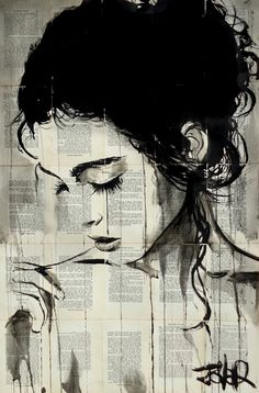Ink Drawing by LOUI JOVER