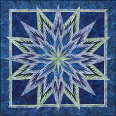 Feathered Star Wall Hanging Full Design