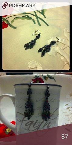 👰👰CHANDELIER EARRINGS👰👰 Black and red chandelier earrings.  Very nice for a night out. Jewelry Earrings
