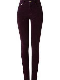 3353c1f34 Amapô Calça skinny cintura alta de veludo Jeans Skinny Feminino, Marcas De  Roupas, Roupas
