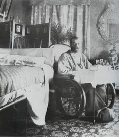 Nicholas recovering from typhoid in about 1899.